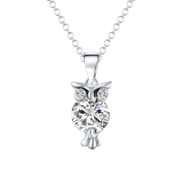 "Women's  Owl Pendant Necklace 17"" - Hautify"