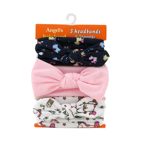 3PCS Mixed Styles Bowknot Hair Band Accessories - Hautify