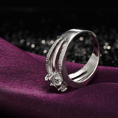 Austrian Crystal Fashion Engagement Ring