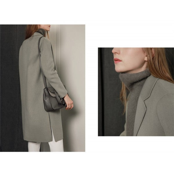 Double Breasted Long Wool Winter Coat - Hautify