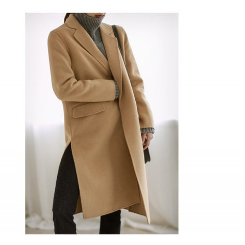Double Breasted Long Wool Winter Coat