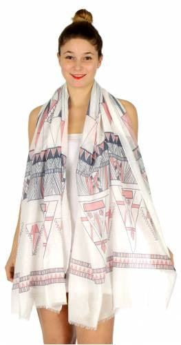Tribal Triangles Print Scarf