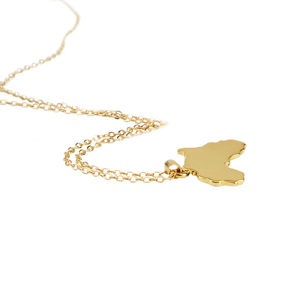 Africa Map Gold Tone Pendant Necklaces for Women Online - Hautify