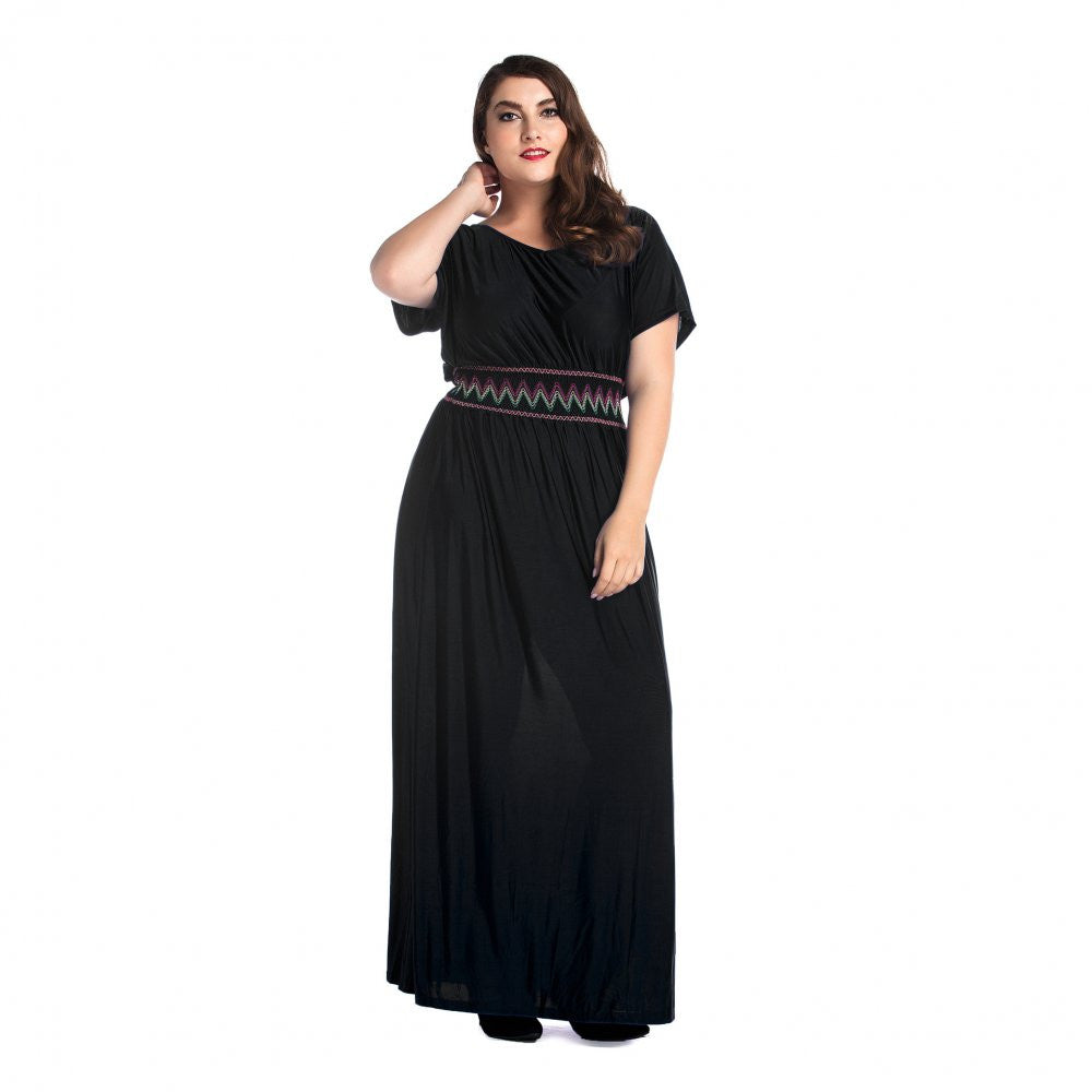 Plus Size Empire Waist Maxi Dress for Women - Hautify