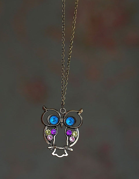 Cute Owl Lovely Necklace - Hautify