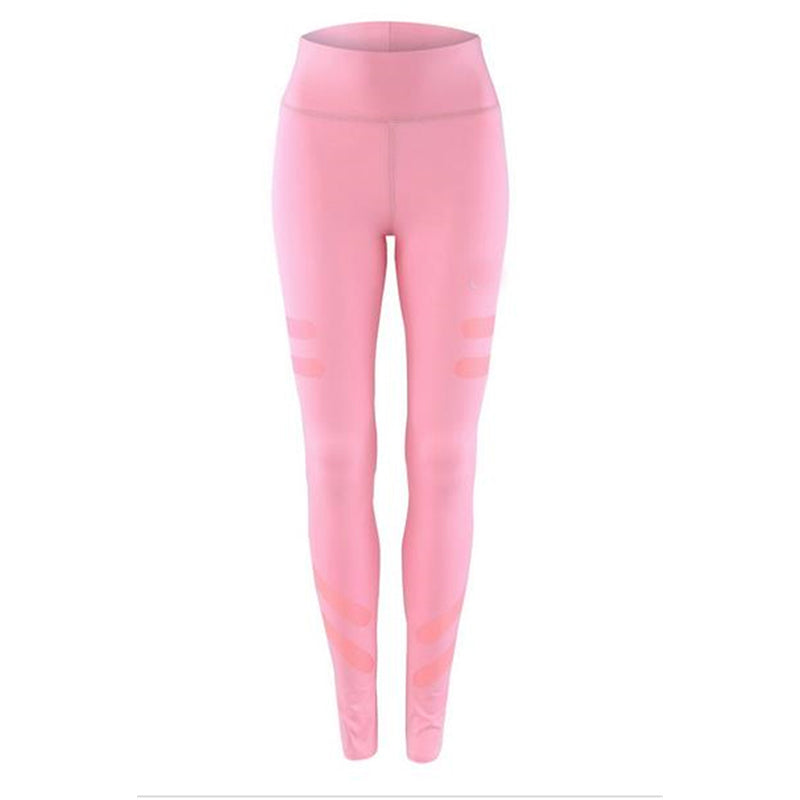 High Waist Latex Panels Slimming Active Leggings - Hautify