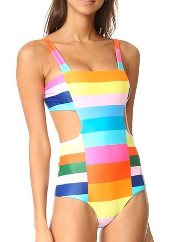 Colorful One Piece Swimsuit