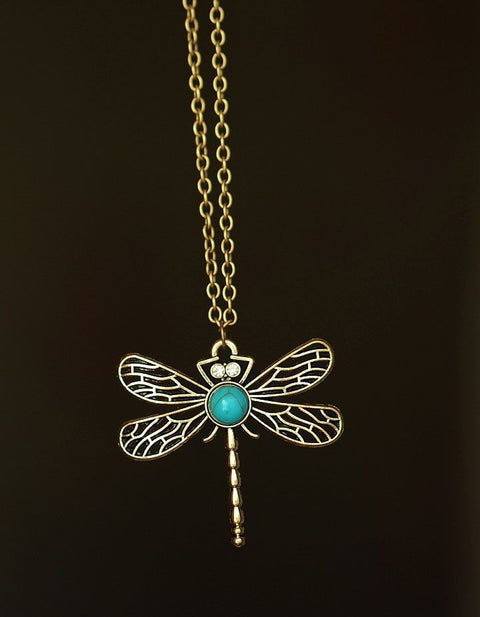 Dragonfly Chain Long Necklace - Hautify
