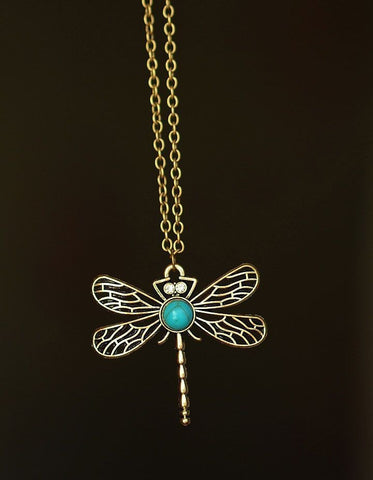 Dragonfly Chain Long Necklace