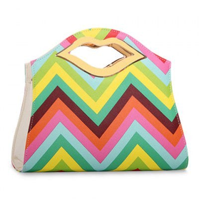 Stripes And Metallic Design Women's Tote Bag