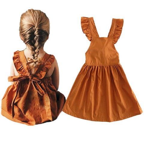 Bowknot Ruffled Summer Dress for Girls 1-4 Years - Hautify