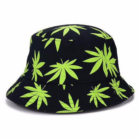 Maple Leaf Print Bucket Hats - Hautify