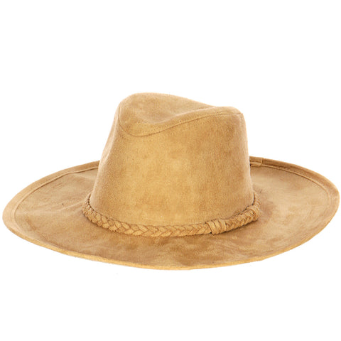 Faux Suede Panama Hat - Hautify