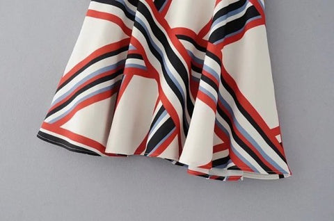 Womens Striped  Flair Skirts