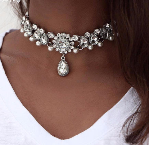Crystal Beaded Choker Necklaces for Women - Hautify