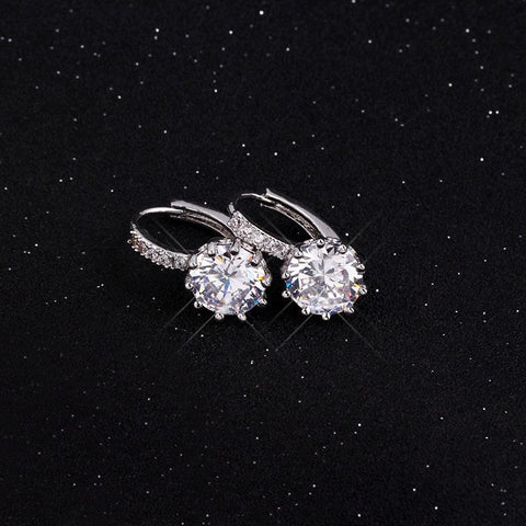 Engraved Crystal Rhinestone Drop Earrings - Hautify