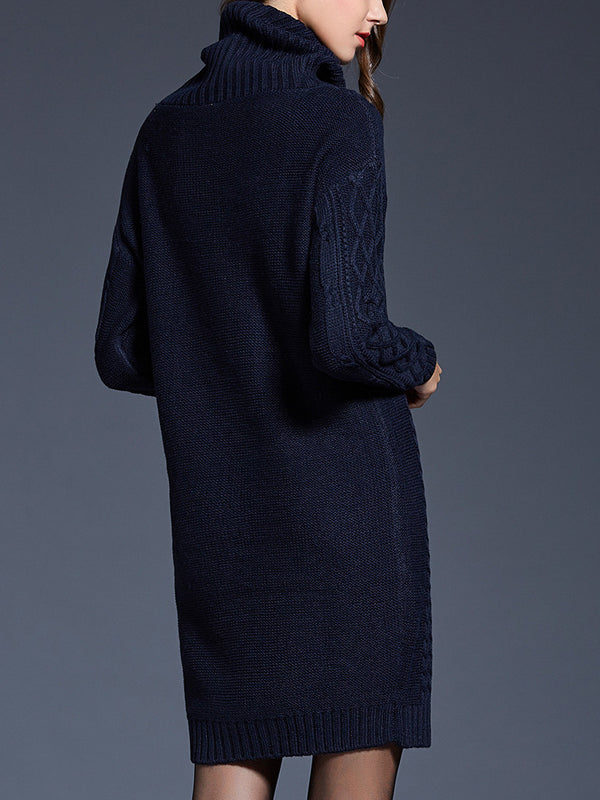 Cowl Neck Knit Sexy Sweater Dresses for Fall Weather - Hautify