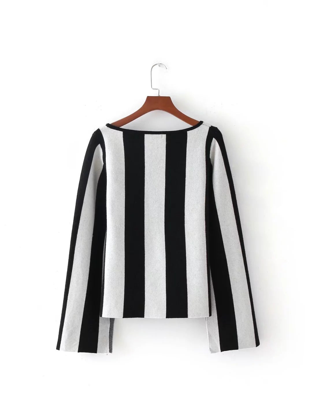 Vertical Stripes Long Sleeve Sweater