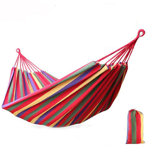 Striped Portable Double Hammock - Hautify