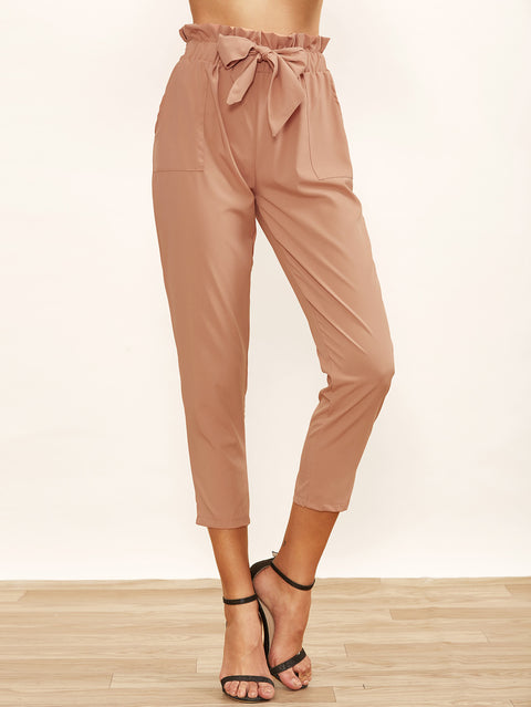 Waist Peg High Waisted Trousers - Hautify