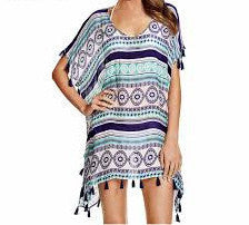 Purple Ball Chiffon Beach Dress Cover Up - Hautify