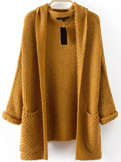 Womens Chunky Open Sweater One Size - Hautify