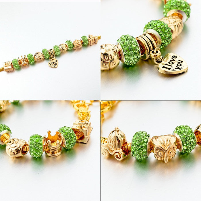 Crystal Bead Love Charm Friendship Bracelet for Women - Hautify