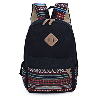 Canvas Portable Backpack for Women