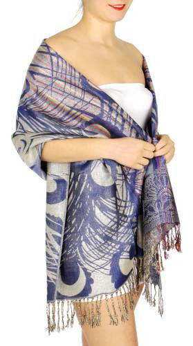 Peacock's Feather Print Top Quality Pashmina for Women - Hautify