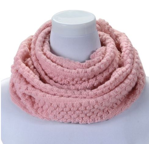 Cowl Neck Knit Wrap Scarf