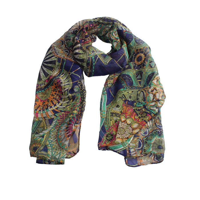 Ukelele African Print Scarf for Women - Hautify