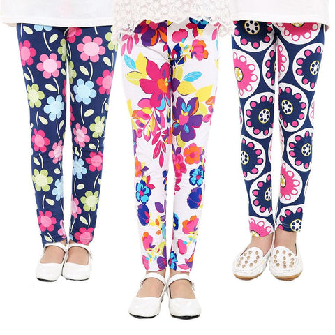 Cute Printed Girls Ankle Leggings Assorted Styles - Hautify