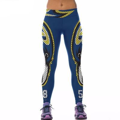 3D Sporty Leggings One Size Cute Activewear for Women - Hautify