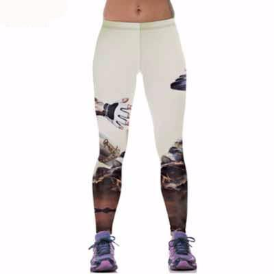 3D Sporty Leggings One Size Cute Activewear for Women