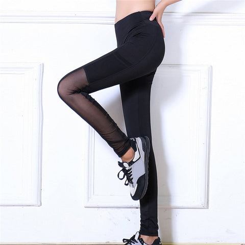 Athleisure Mesh Panels Ankle Foot Yoga Pants for Women
