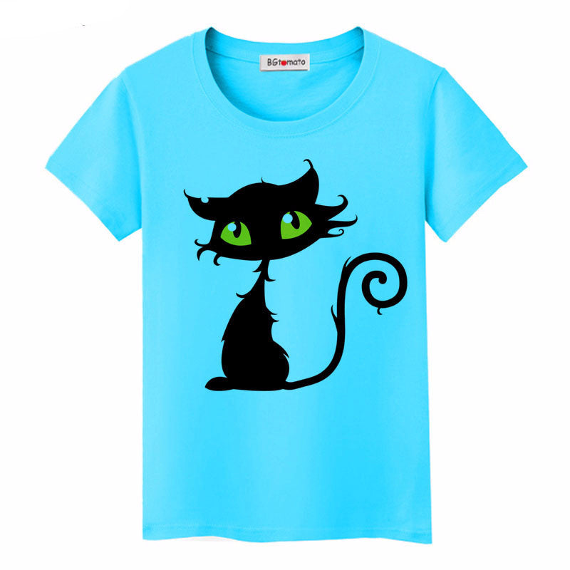 Naughty Black Cat 3D Tshirt for Women - Hautify