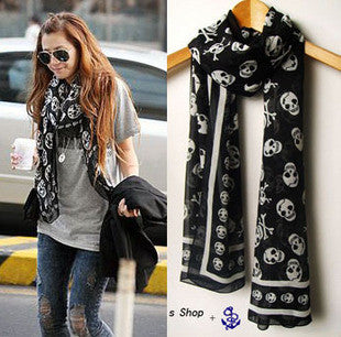 Silk Skull Scarf for Women - Hautify