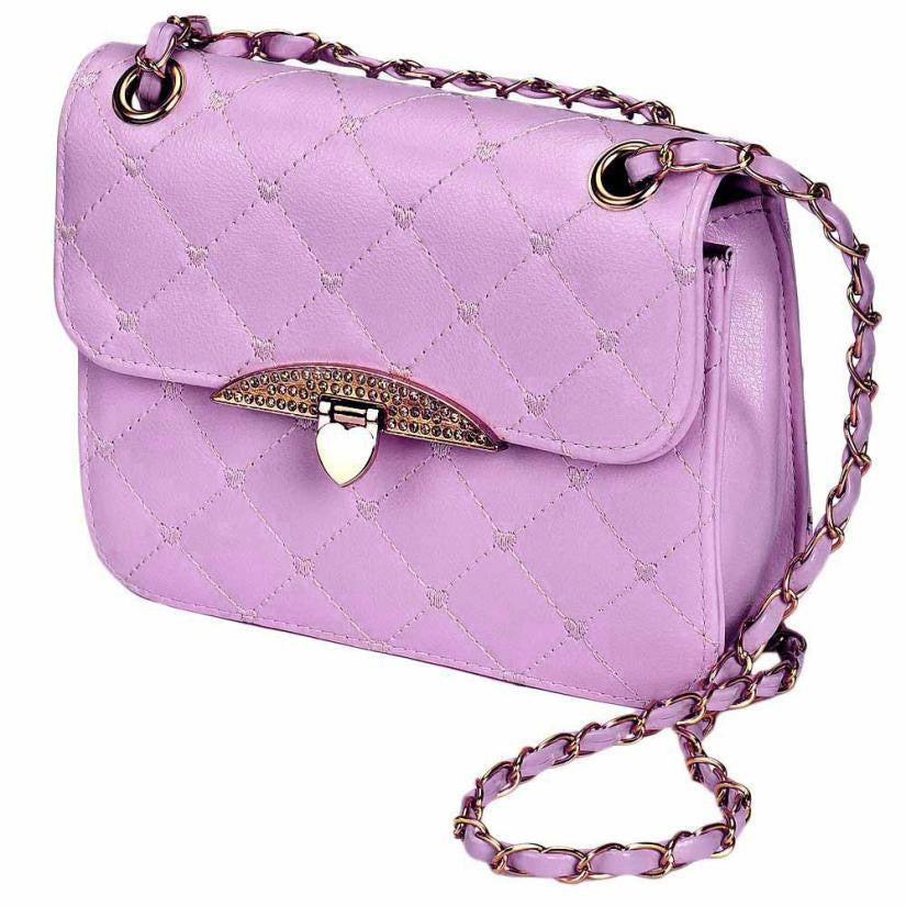 Quilted Chain Strap Small Shoulder Bag - Hautify