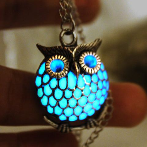 Luminous Glow in The Dark Owl Necklace - Hautify