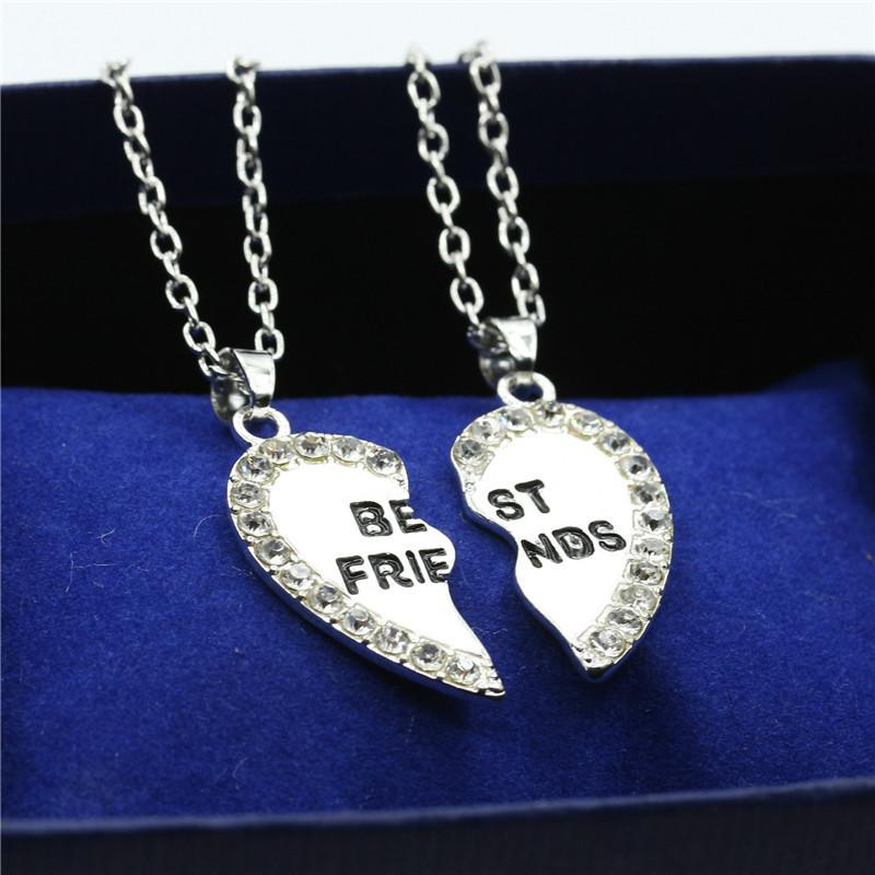 2pcs Best Friends Forever  Love Pendant  Necklace - Hautify