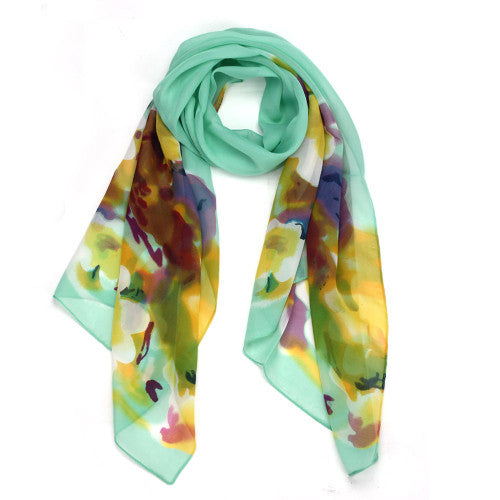 Spring Blossom Floral Print Oblong Scarves for Women - Hautify
