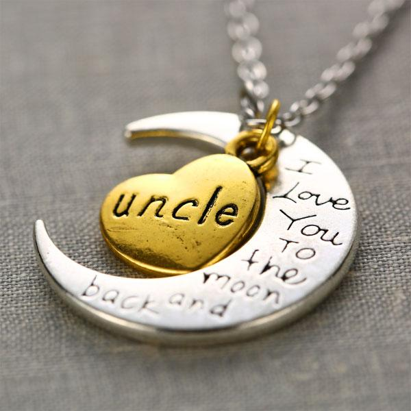 """I Love You To The Moon And Back"" Family Moon Pendant Necklaces - Hautify"