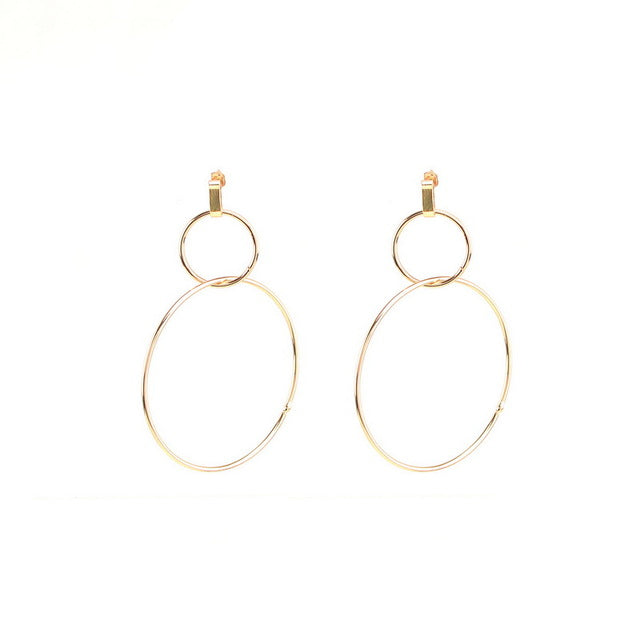 DIVA Double Hoop Drop Earrings