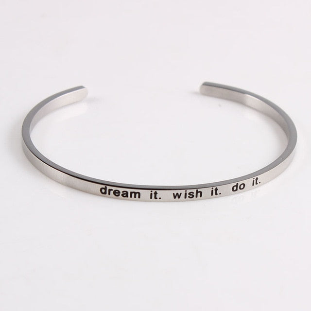 Mantras To Live By Cuff Bracelet