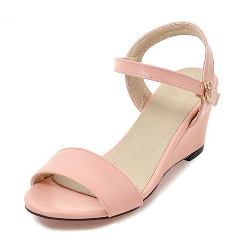 Women's Casual Open Toe Slim Wedge - Hautify