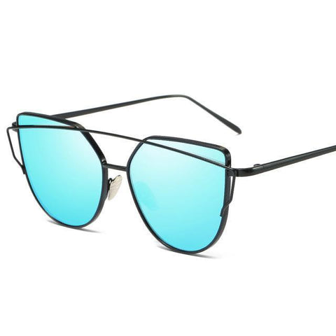 High Quality Sexy Cat Eye Mirror Sunglasses