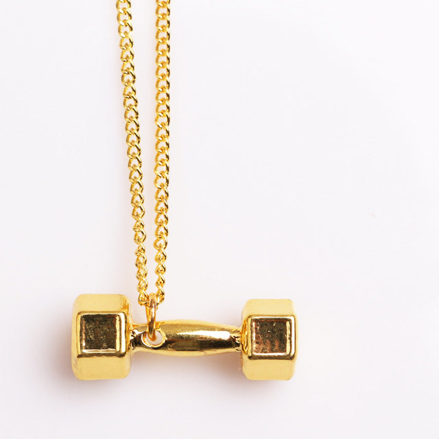 Motivational Dumbell Pendant Necklaces - Hautify
