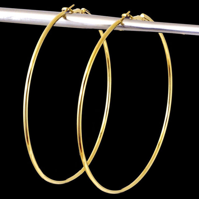 Stand Back Large Hoop Earrings