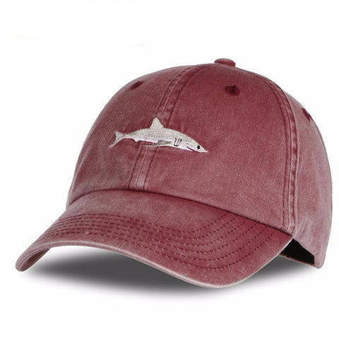 Washed Out Shark Embroidery Snapback - Hautify