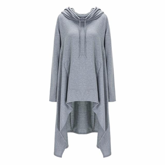 Long Sleeved Asymmetrical Sweatshirt Top - Hautify